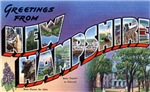 Greetings from New Hampshire T-shirt Tshirts Gifts