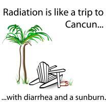 Radiation Like Trip to Cancun