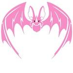 Fancy Pink Bat T-Shirts