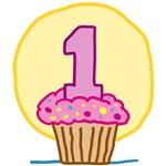 1st Birthday Cupcake T-Shirts