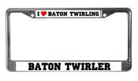 Baton Twirler License Plate Frames