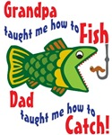 Grandpa Dad Fishing