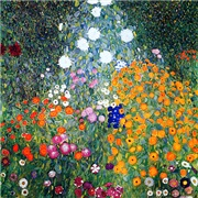 Klimt - Flower Garden