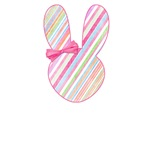 Pink Easter Bunny with Bow