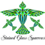 Stained Glass Sparrows
