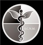 SCNM Medicine Wheel B&W Logo