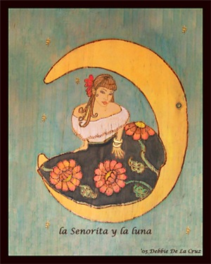 Girl on the moon/la senorita y la luna