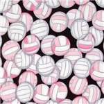 Loads of Pink Volleyballs