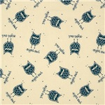 Boy Blue Night Owl Pattern