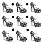 Black Polka Dot High Heels