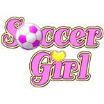 Pink Soccer Girl
