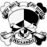 Alexander Family Crest Skull