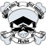 Ashe Family Crest Skull