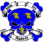 Aubrey Family Crest Skull