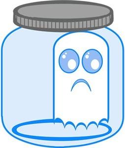 Cute Ghost In A Jar