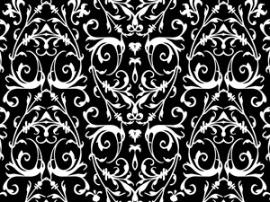 Black And White Damask Pattern