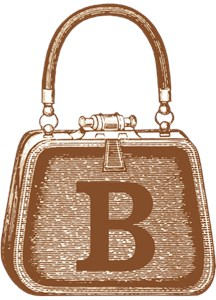 MONOGRAM Vintage Purse Brown Graphic