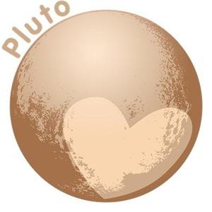 Cute Pluto Heart