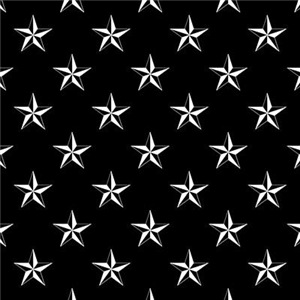 Star Pattern Black