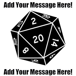 Personalized D20 Dice Graphic