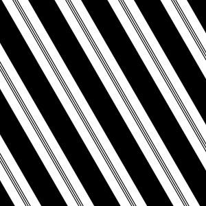 Black Candy Stripe Large