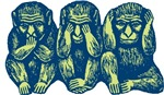 See Hear Speak No Evil Monkey T-shirts