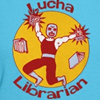 lucha librarian t-shirts