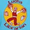 lucha librarian t-shirts