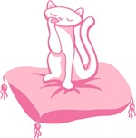 Kitty on a Pillow T-shirts