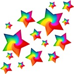 Rainbow Stars T-shirts & Gifts