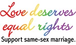 Love Deserves Equal Rights T-shirts & Gifts