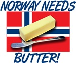 Norway Needs Butter T-shirts