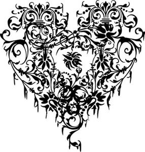 Ornate Gothic Heart