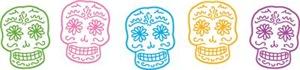 Colorful Sugar Skulls