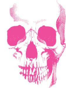 Pink Skull Face