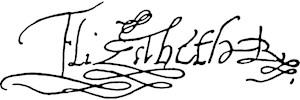 Queen Elizabeth I Signature