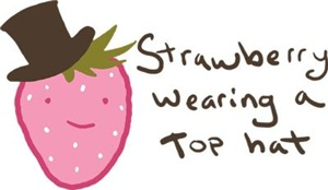 Strawberry Wearing A Top Hat