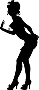 Burlesque Lady Silhouette