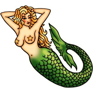 Retro Mermaid Tattoo Art