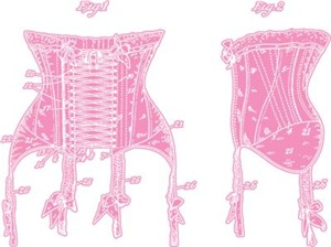 Corset Patent Pink