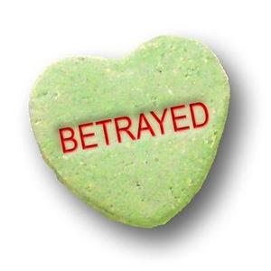 Green Candy Heart Betrayed