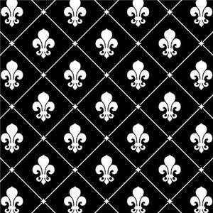 Black Fleur De Lis Pattern