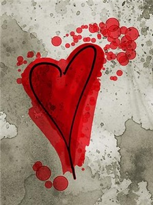 Ink Splatter Heart