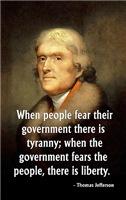 Jefferson, When People Fear