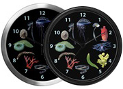 Marine Invertebrates Wall Clocks