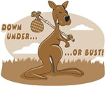 Vintage Down Under or Bust T-Shirts
