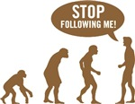 Evolution is following me (brown)