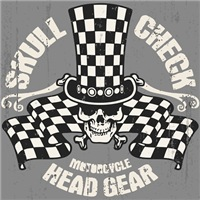Skull Check Head Gear