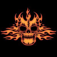 Tribal Flame Skull