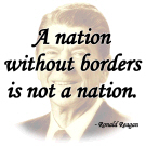 Reagan Quote - A Nation without borders